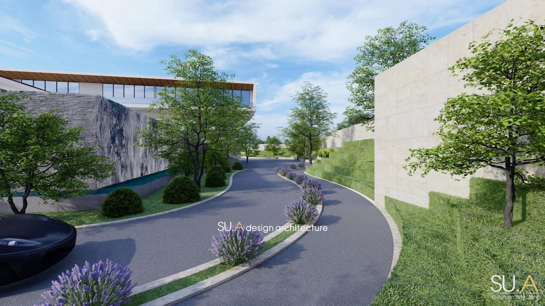 Phối cảnh kiến trúc biệt thự hiện đại mái bằng