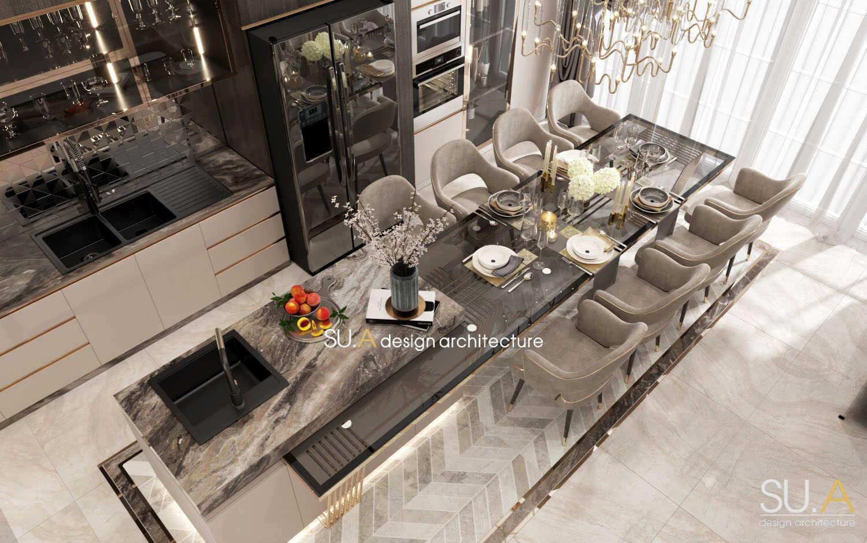 Thiết kế nội thất nội thất phòng bếp Tân cổ điển