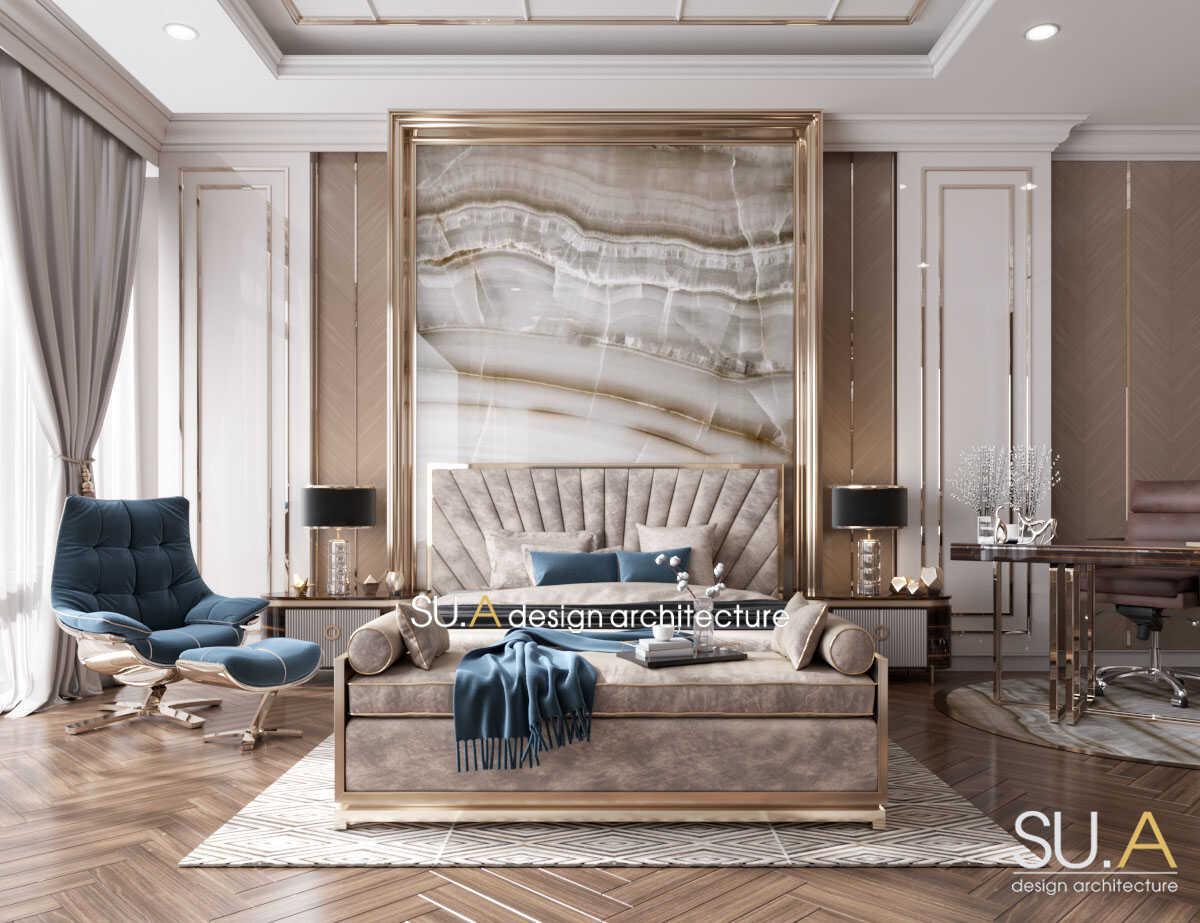 Thiết kế nội thất nội thất phòng ngủ Tân cổ điển