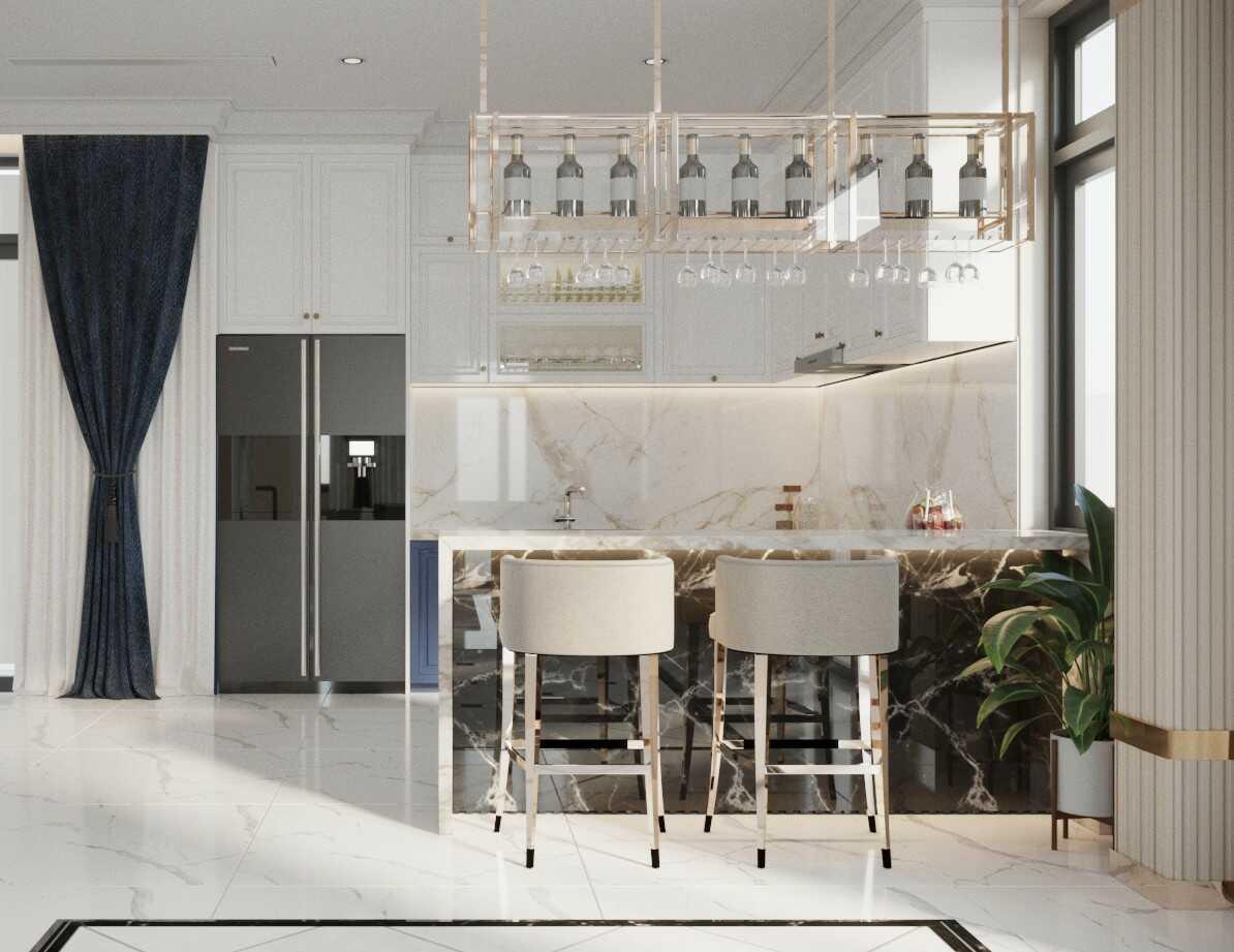 Thiết kế nội thất phòng bếp ăn Tân cổ điển