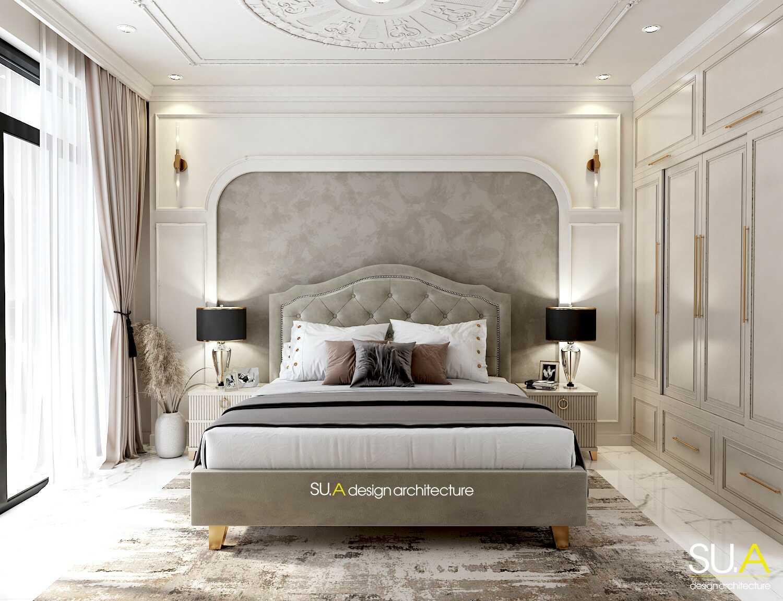 Thiết kế nội thất phòng ngủ biệt thự tân cổ điển 2 tầng