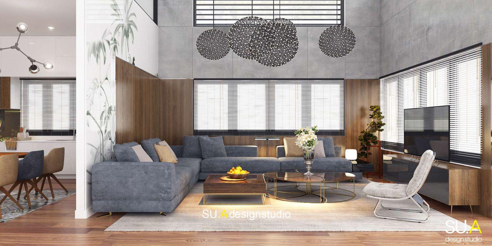 Thiết kế nội thất biệt thự theo phong cách hiện đại sang trọng